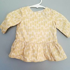 Baby Gap cream color dress